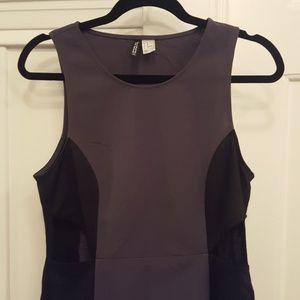 H&M Gray and Black Cutout Dress